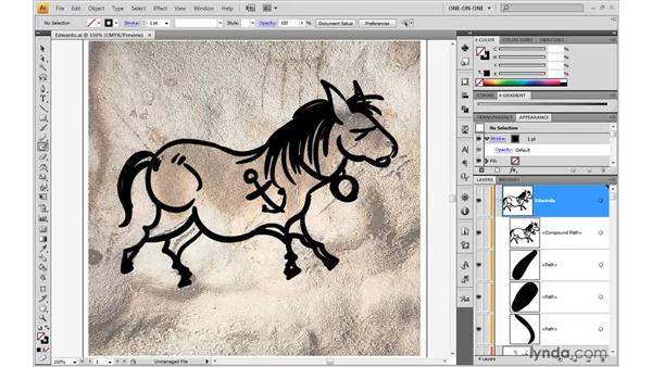 Refining filled paths with the Eraser: Illustrator CS4 One-on-One: Advanced