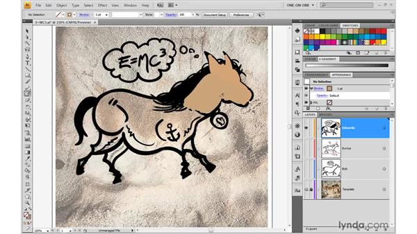 Painting independent paths: Illustrator CS4 One-on-One: Advanced