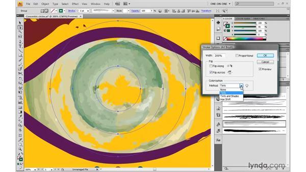 Colorizing an art brush: Illustrator CS4 One-on-One: Advanced