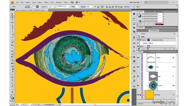 Heaping a stroke on an art brush effect: Illustrator CS4 One-on-One: Advanced