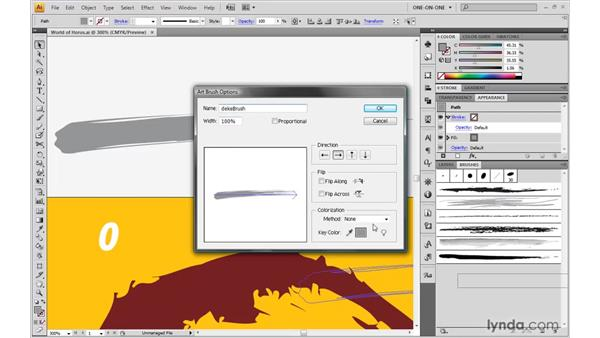 Creating a custom art brush: Illustrator CS4 One-on-One: Advanced