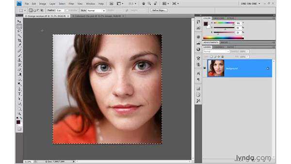 Copying and pasting pixels from Photoshop: Illustrator CS4 One-on-One: Advanced