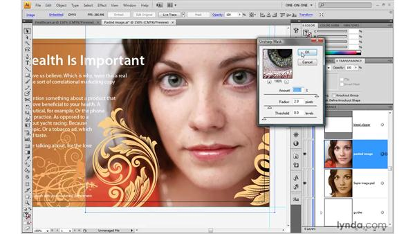 Editing an image in Illustrator: Illustrator CS4 One-on-One: Advanced