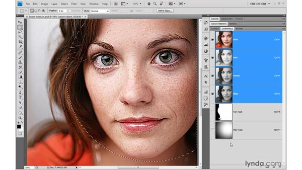 Adding a filter mask in Photoshop: Illustrator CS4 One-on-One: Advanced