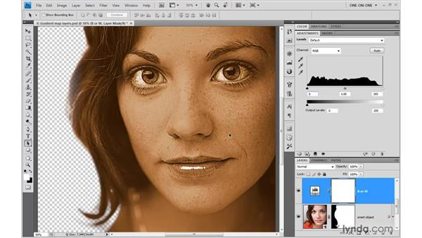 Achieving a graphic effect with Levels: Illustrator CS4 One-on-One: Advanced