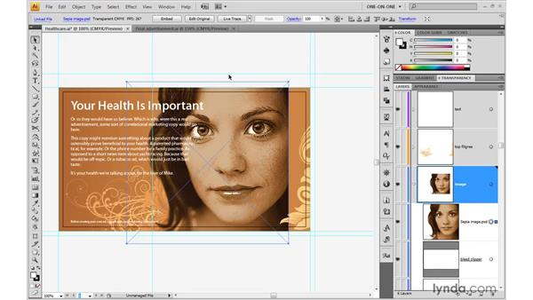 Placing and linking images: Illustrator CS4 One-on-One: Advanced