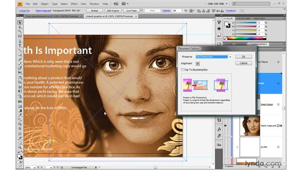 Managing linked images: Illustrator CS4 One-on-One: Advanced