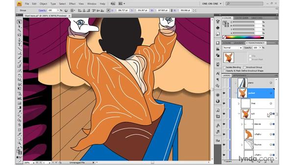Creating a knockout group: Illustrator CS4 One-on-One: Advanced