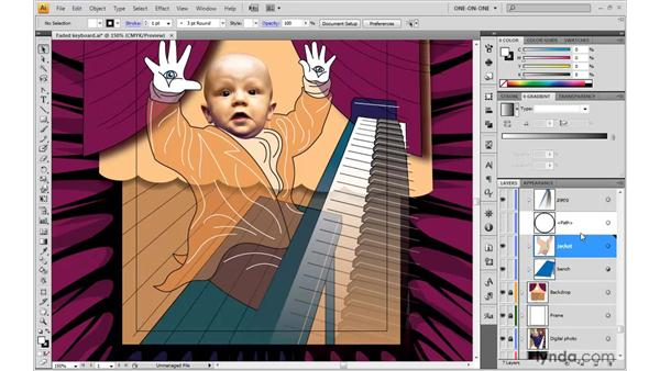 Employing an opposing gradient mask: Illustrator CS4 One-on-One: Advanced