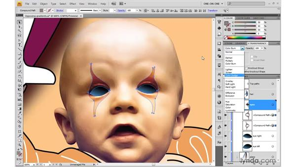 Combining Multiply and Screen: Illustrator CS4 One-on-One: Advanced