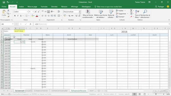 Calendrier Excell.Bienvenue Dans Creer Un Planning Avec Excel 2016