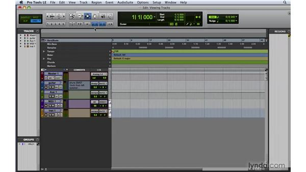 Viewing and manipulating tracks: Pro Tools 8 Essential Training