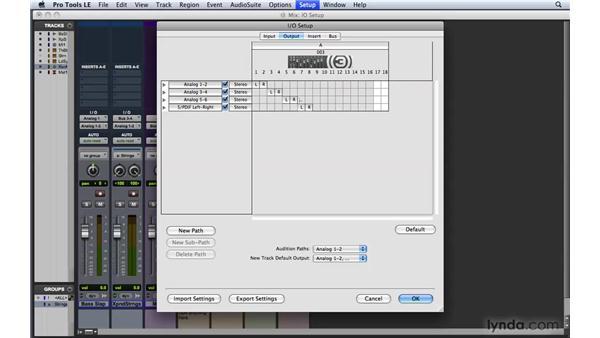 Adjusting the I/O setup: Pro Tools 8 Essential Training