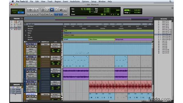 Utilizing keyboard shortcuts and keyboard focus: Pro Tools 8 Essential Training