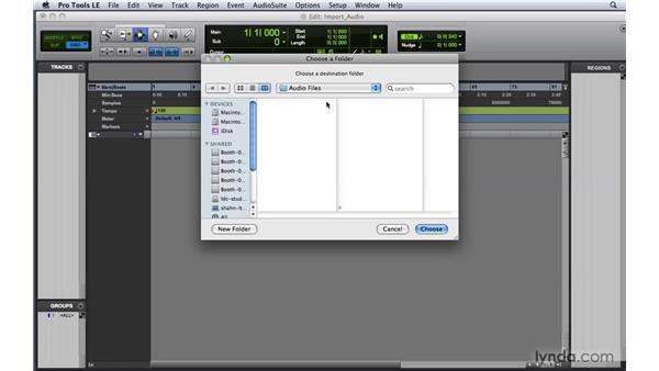 Importing audio : Pro Tools 8 Essential Training
