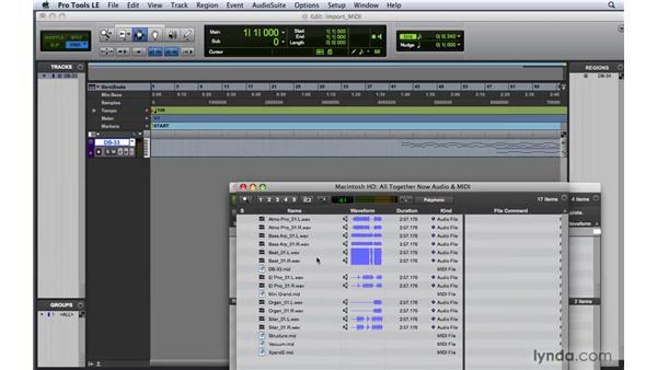 Importing MIDI: Pro Tools 8 Essential Training