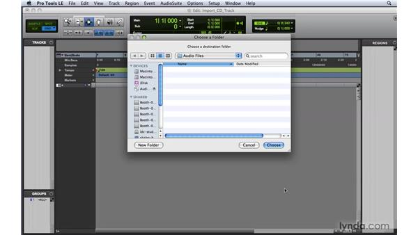 Importing tracks from a CD: Pro Tools 8 Essential Training