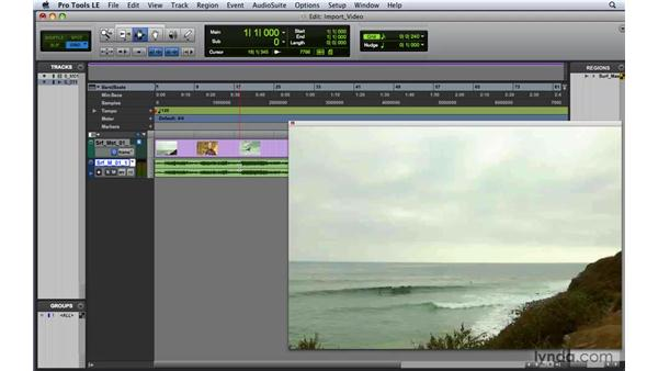 Importing video: Pro Tools 8 Essential Training