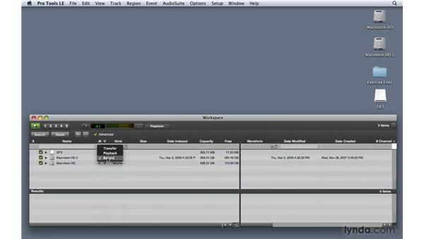 Unmounting a hard drive: Pro Tools 8 Essential Training