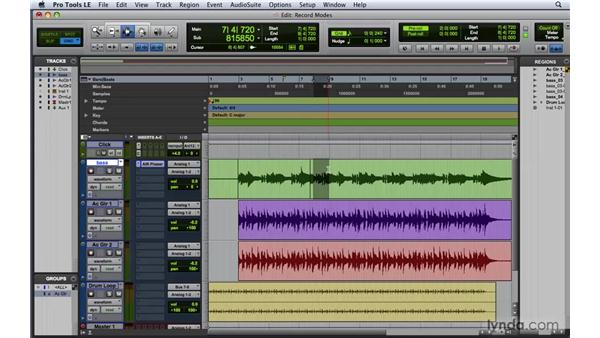 Overdubbing and using the record modes: Pro Tools 8 Essential Training