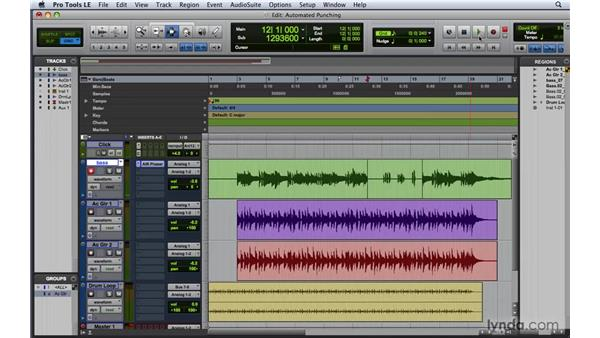 Punch recording and using the monitoring modes: Pro Tools 8 Essential Training