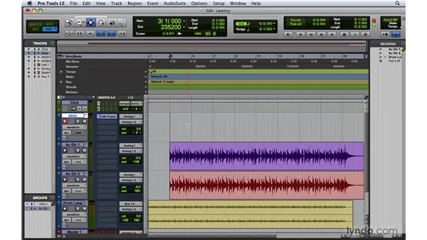 Dealing with latency: Pro Tools 8 Essential Training
