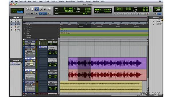 Creating a group: Pro Tools 8 Essential Training
