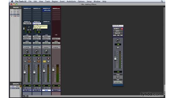 Adding effects while recording : Pro Tools 8 Essential Training