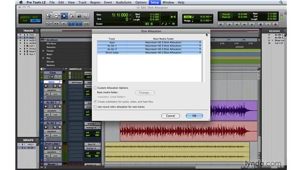Assigning disk allocation: Pro Tools 8 Essential Training