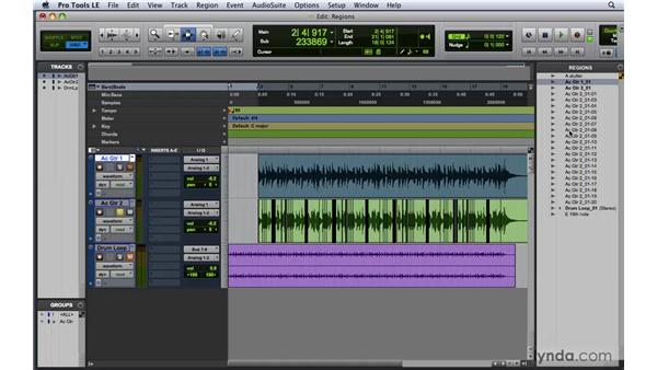 Understanding nondestructive editing and region types: Pro Tools 8 Essential Training