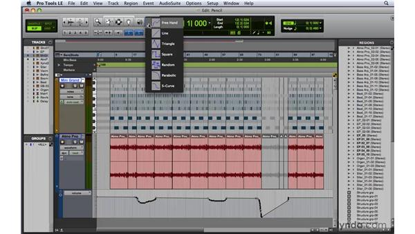 Using the Pencil tool: Pro Tools 8 Essential Training