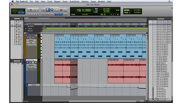 Understanding the edit modes: Pro Tools 8 Essential Training