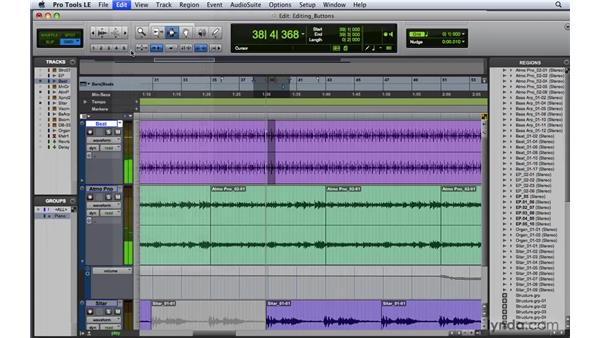 Special buttons in the Editing window: Pro Tools 8 Essential Training