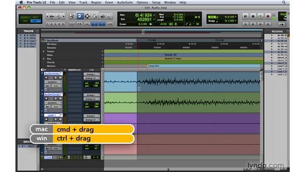 Creating an audio loop: Pro Tools 8 Essential Training
