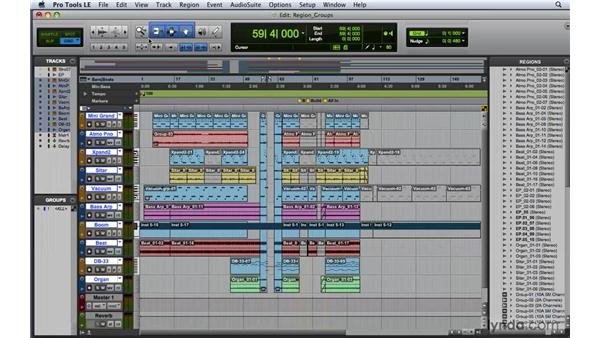 Working with region groups: Pro Tools 8 Essential Training