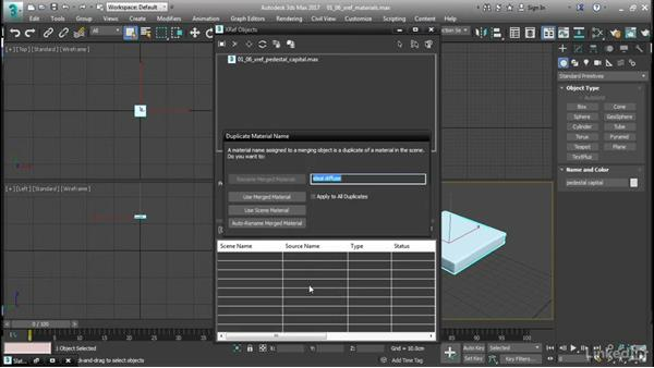 Understanding XREFs and materials: 3ds Max: Advanced Materials