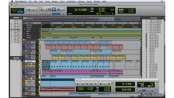 Setting time, tempo, meter, key, and chord: Pro Tools 8 Essential Training