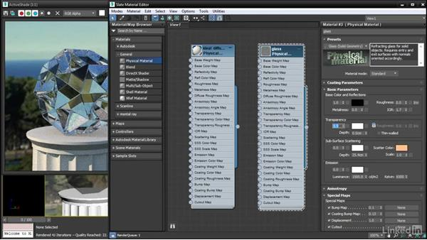 Controlling physical transparency: 3ds Max: Advanced Materials