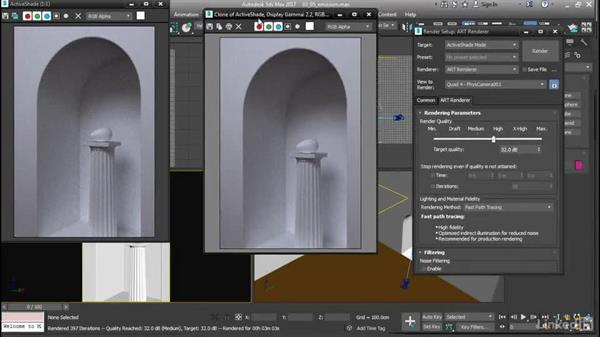 Light emission from a surface: 3ds Max: Advanced Materials