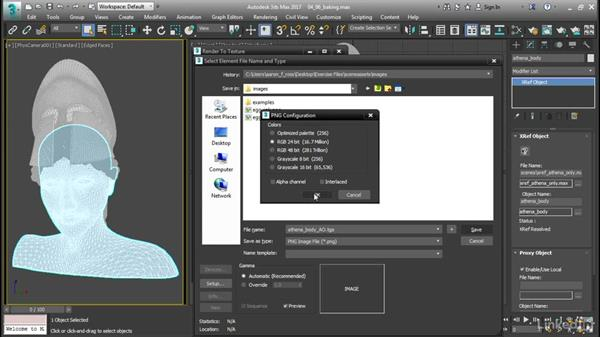 Baking maps with Render to Texture: 3ds Max: Advanced Materials