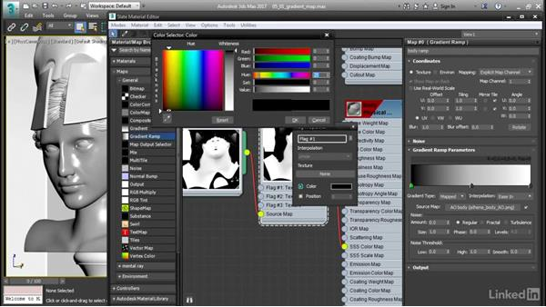Mapping a gradient ramp: 3ds Max: Advanced Materials