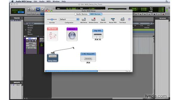 Setting up MIDI on a Mac : Pro Tools 8 Essential Training