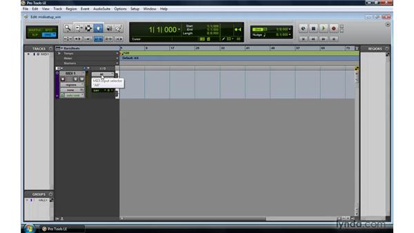 Setting up MIDI on a PC: Pro Tools 8 Essential Training