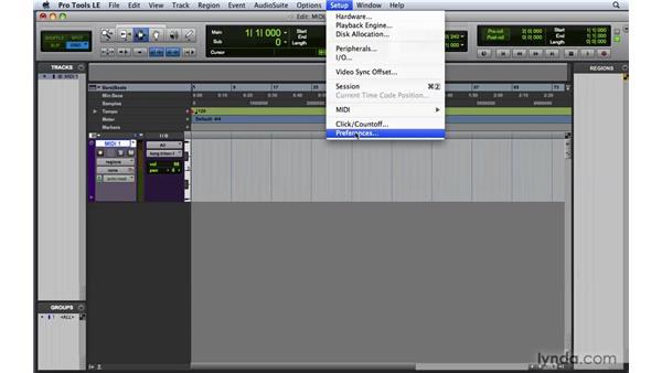 Setting up MIDI in Pro Tools: Pro Tools 8 Essential Training