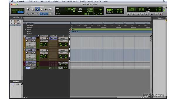 Recording MIDI data: Pro Tools 8 Essential Training