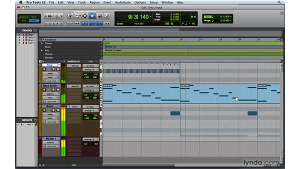 Using step input: Pro Tools 8 Essential Training