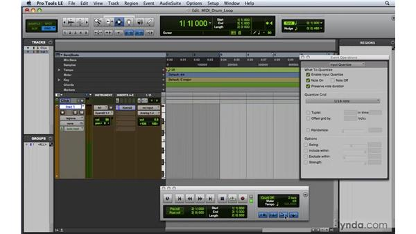 Making a drum loop with MIDI Merge: Pro Tools 8 Essential Training
