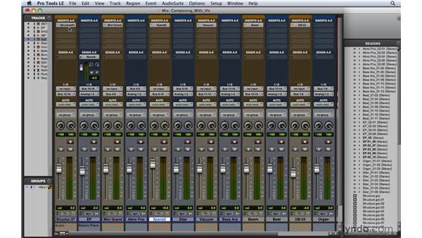 Composing with virtual instruments: Pro Tools 8 Essential Training