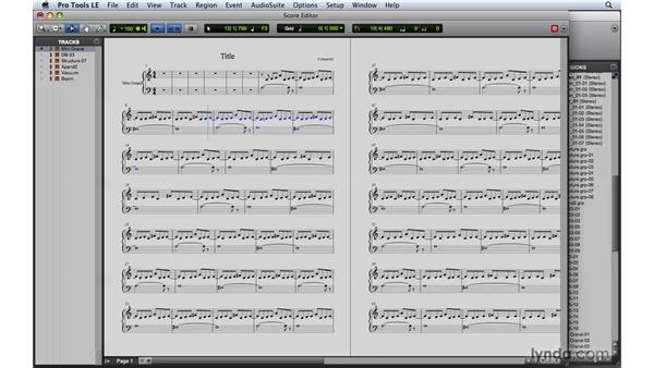 Exploring the Score Editor: Pro Tools 8 Essential Training
