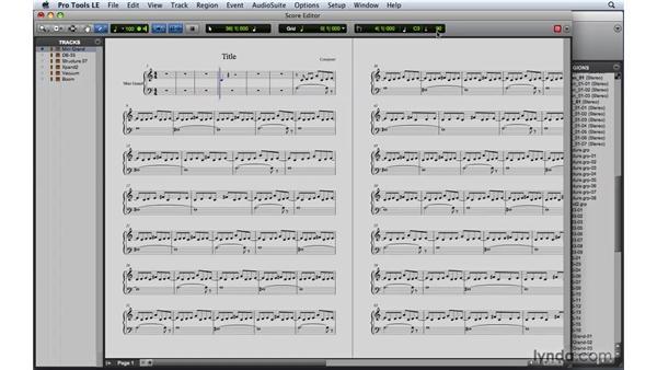 Using the Score Editor: Pro Tools 8 Essential Training